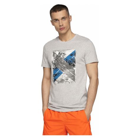 T-Shirt 4F H4L19-TSM025A - 27M/Cold Light Gray Melange - men´s