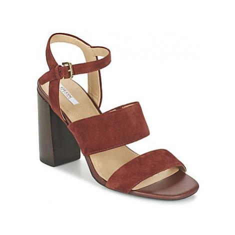 Geox D AUDALIES H.SAN. A women's Sandals in Brown