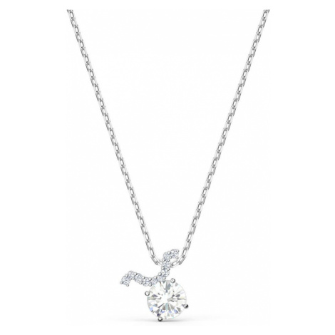 Swarovski Zodiac II White Crystal Taurus Necklace