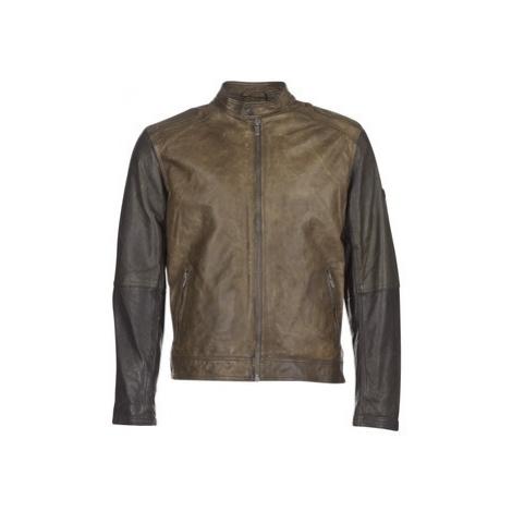Pepe jeans VINCENT men's Leather jacket in Kaki