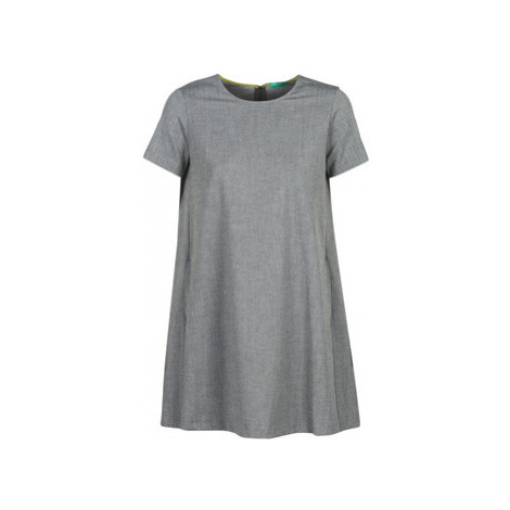 Benetton PAPOFOU women's Dress in Grey United Colors of Benetton