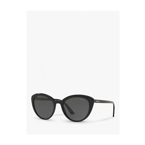 Prada PR 02VS Women's Cat's Eye Sunglasses, Black/Grey