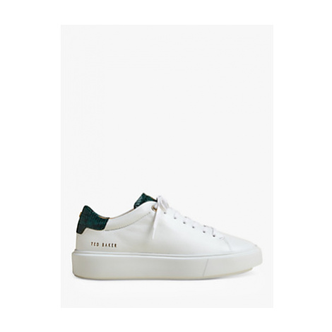 Ted Baker Piixie Leather Lace Up Trainers, White