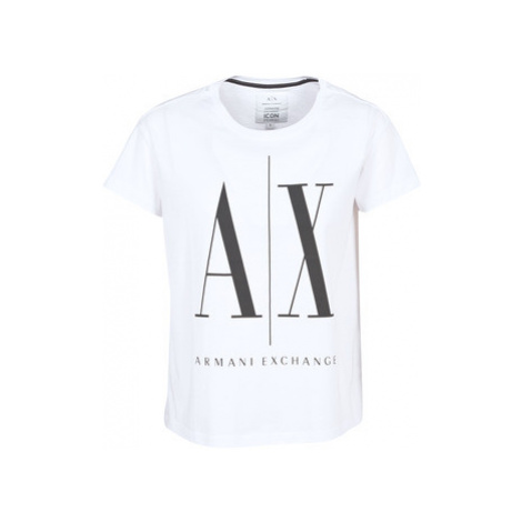 Armani Exchange 8NYTCX-YJG3Z-5102 women's T shirt in White
