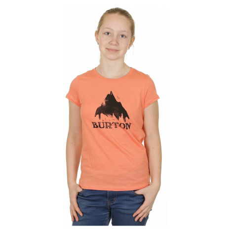Burton Stamped Mountain T-shirt - Fresh Salmon