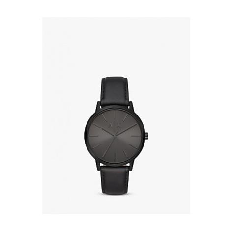 Armani Exchange Men's Leather Strap Watch