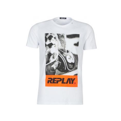 Replay M3854-000-2660-001 men's T shirt in White
