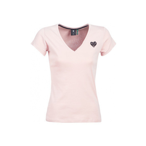 G-Star Raw GRAPHIC 51 SLIM V T women's T shirt in Pink