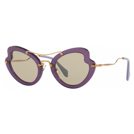 Miu Miu Woman MU 11RS - Frame color: Violet, Lens color: Brown, Size 52-26/145
