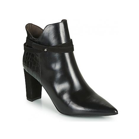 Perlato 11335-JAMAICA-CROCO-CAM-NOIR women's Low Ankle Boots in Black
