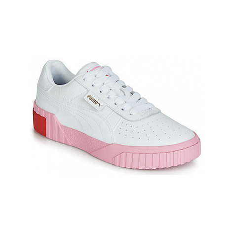 Puma WN CALI FASHION.WH-PINK women's Shoes (Trainers) in White