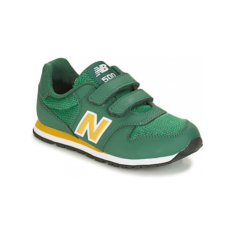 New Balance YV500 boys's Children's Shoes (Trainers) in Green