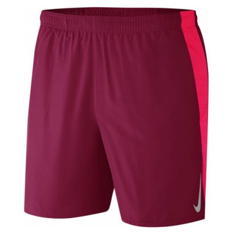Nike CHLLGR SHORT 7IN 2IN1 M red wine - Men's running shorts