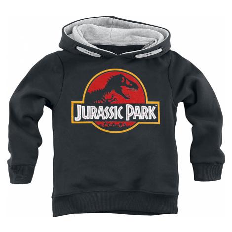 Jurassic Park - Classic Logo - Kids Hooded Sweater - black