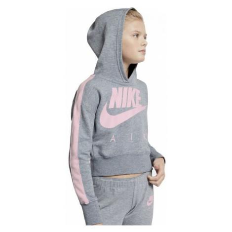 Nike NSW CROP PE AIR grey - Girls' hoodie