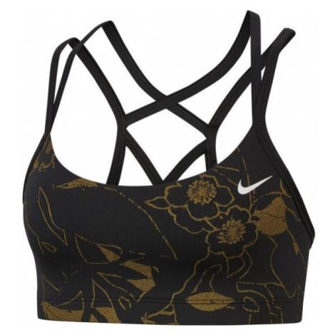 Nike FAVORITES BRA METLLC PRT black - Women's sports bra