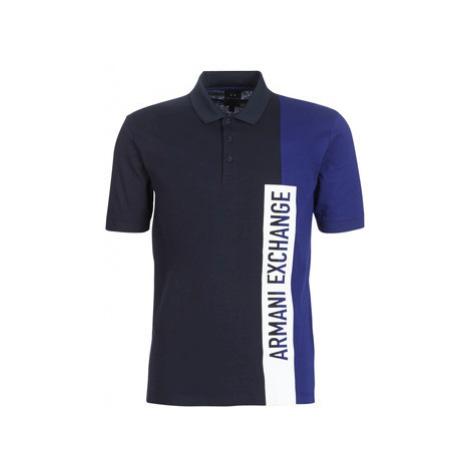 Armani Exchange HOPI men's Polo shirt in Blue