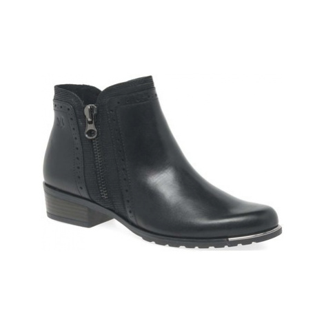 Caprice Amelia Womens Zip Fastening Ankle Boots women's Low Ankle Boots in Black