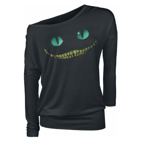 Alice in Wonderland Cheshire Cat - Smile Long-sleeve Shirt black