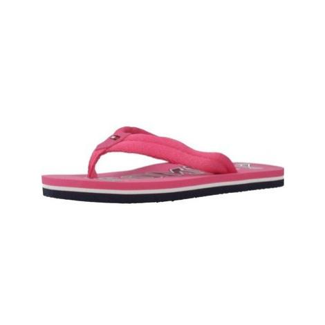 Tommy Hilfiger T3A0 30205 girls's Children's Flip flops / Sandals in Pink