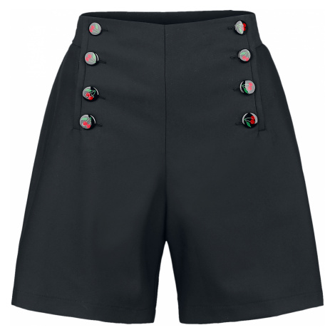 Pussy Deluxe - Cherries Short Pants - Girls shorts - black