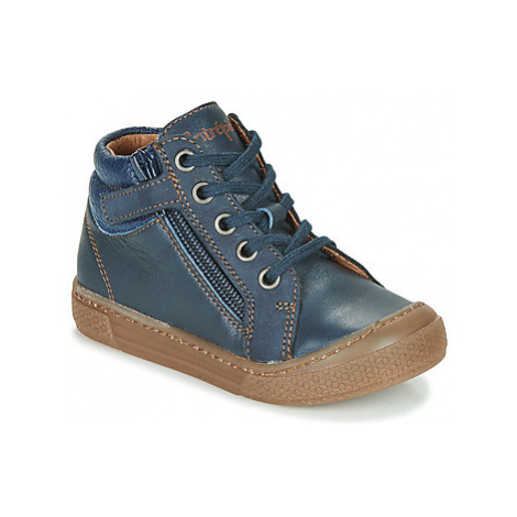 Babybotte KAKY boys's Children's Shoes (High-top Trainers) in Blue
