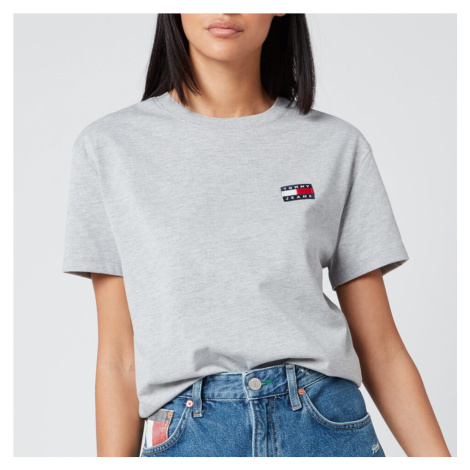 Tommy Jeans Women's Tommy Badge T-Shirt - Light Grey Heather Tommy Hilfiger