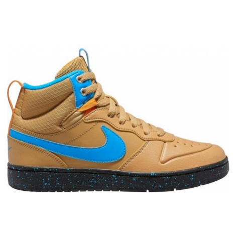 Nike COURT BOROUGH MID 2 BOOT GS brown - Kids' leisure shoes