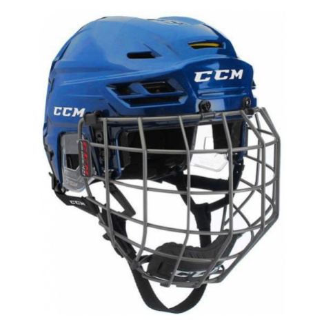 CCM TACKS 310C SR COMBO blue - Hockey helmet