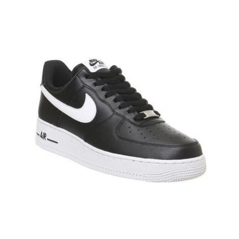 Nike Air Force One (m) BLACK WHITE LEATHER