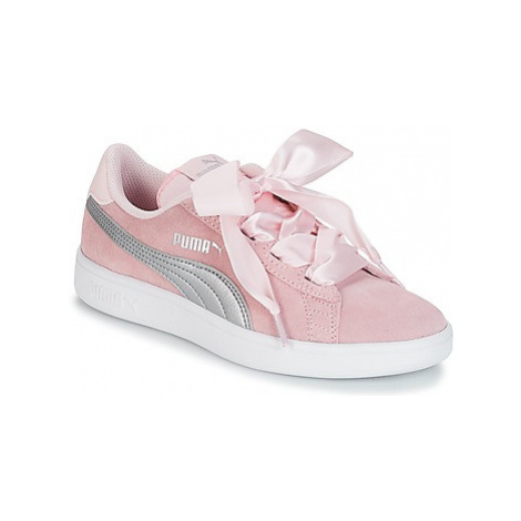 Puma JR PUMA SMASH RIBB.PINK girls's Children's Shoes (Trainers) in Pink