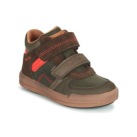 Geox J ARZACH BOY boys's Children's Shoes (High-top Trainers) in Brown