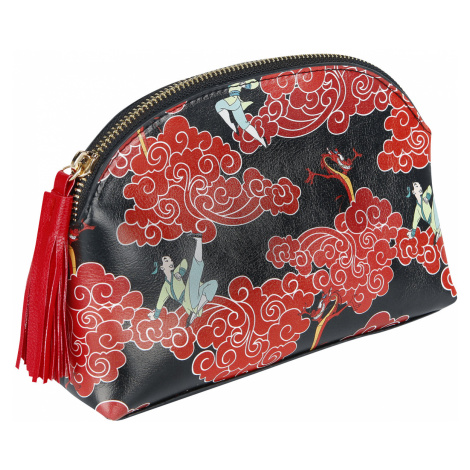 Mulan - Dragon Symbol - Cosmetic Bag - black-red