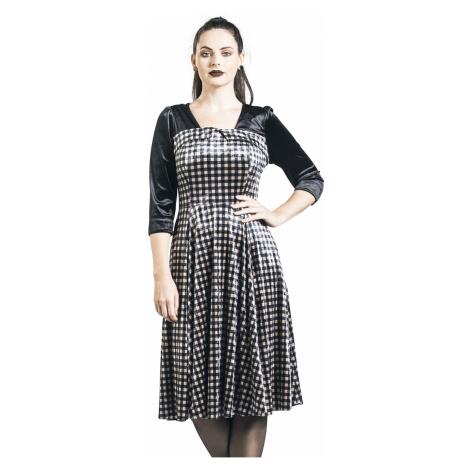 H&R London - Velvet Dream Dress - Dress - black-beige