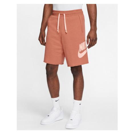 Nike Sportswear Shorts Red Beige