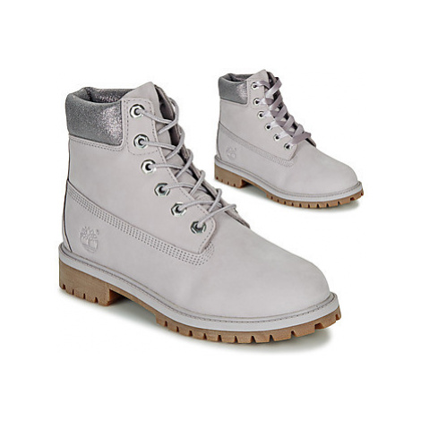 Timberland 6 IN PREMIUM WP BOOT girls's Children's Mid Boots in Grey