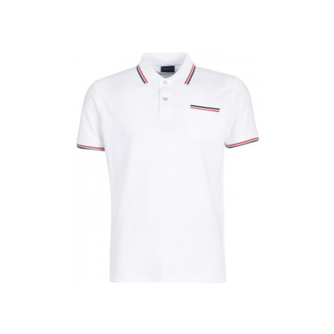 Gant COL TIPPING PIQUE men's Polo shirt in White