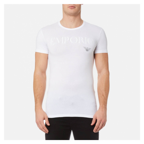 Emporio Armani Men's Stretch Cotton Crew Neck T-Shirt - Bianco