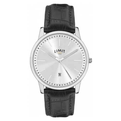 Mens Limit Silver Coloured Classic DateWatch