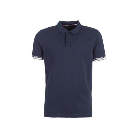 Tommy Hilfiger HEATHER BADG REGULAR POLO men's Polo shirt in Blue