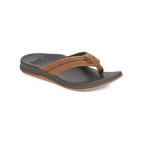 Reef LEATHER ORTHO SPRING men's Flip flops / Sandals (Shoes) in Brown