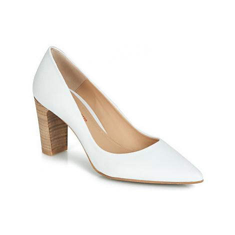 Perlato POLA women's Court Shoes in White