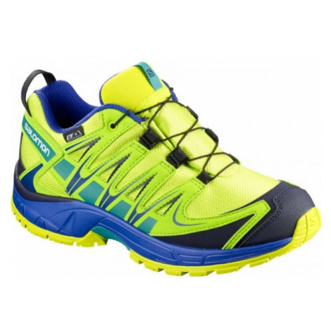 Salomon XA PRO 3D CSWP K green - Kids' running shoes