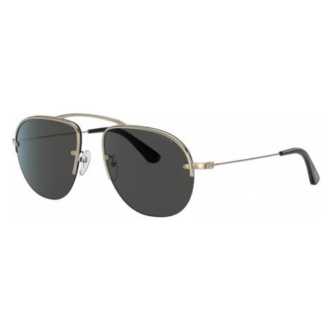 Prada Man PR 58OS - Frame color: Gold, Lens color: Grey-Black, Size 55-16/135
