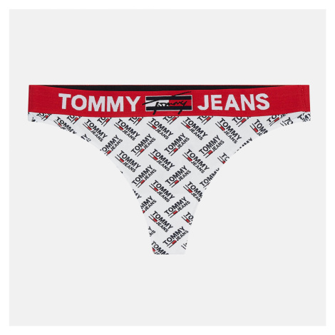 Tommy Jeans Women's Organic Recycled Print Thong - White Tommy Hilfiger