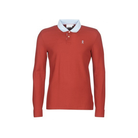 Vicomte A. PETERSON LS BI POLO men's Polo shirt in Red