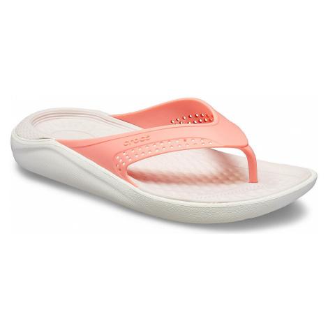 flip flops Crocs LiteRide Flip - Melon/White - women´s