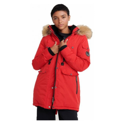 Superdry NADARE MICROFIBRE PARKA red - Women's parka