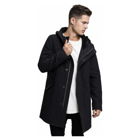 coat Urban Classics Structured Hooded/TB1816 - Charcoal - men´s