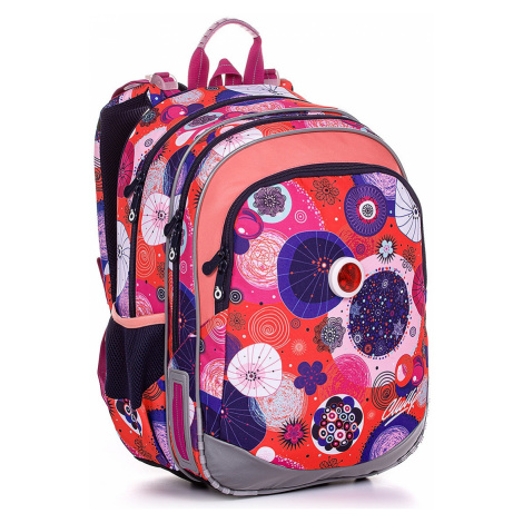 backpack Topgal ELLY 20005 - G/Coral - girl´s